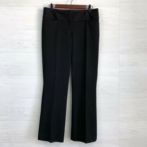 Express 4S Editor Black Flat Front Trousers
